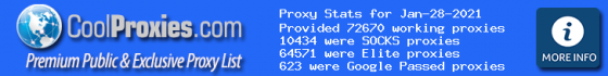 CoolProxies.com Proxy List Service | Thousands of HTTP & SOCKS Public & Exclusive Proxies